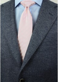 Solid Striped Tie in Blush for Tall Men Styled