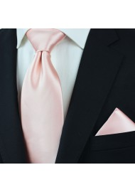 XL Tie in Peach Blush Styled