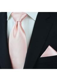 Peach Blush Pink Necktie Styled