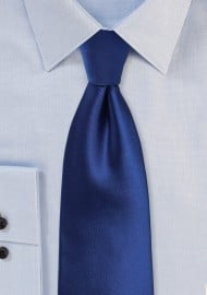 Solid Satin Necktie in Royal Blue