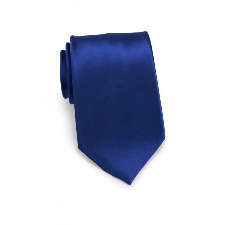 Kids Tie in Solid Royal Blue