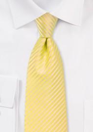 Yellow Summer Striped Kids Tie