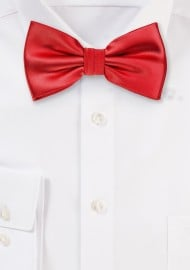 Solid Bright Red Mens Bow Tie