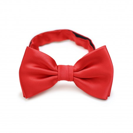 Kids Bow Tie in Bright Red