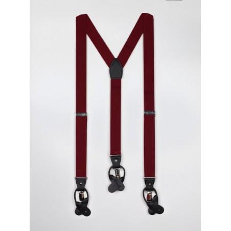 Wine Red Mens Suspenders