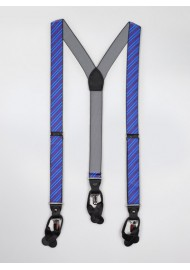 Blue and Red Striped Suspenders
