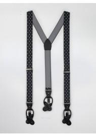Black and White Polka Dot Suspenders