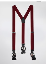 Wine Red Mens Herringbone Suspender