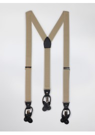 Tan Brown Mens Suspenders