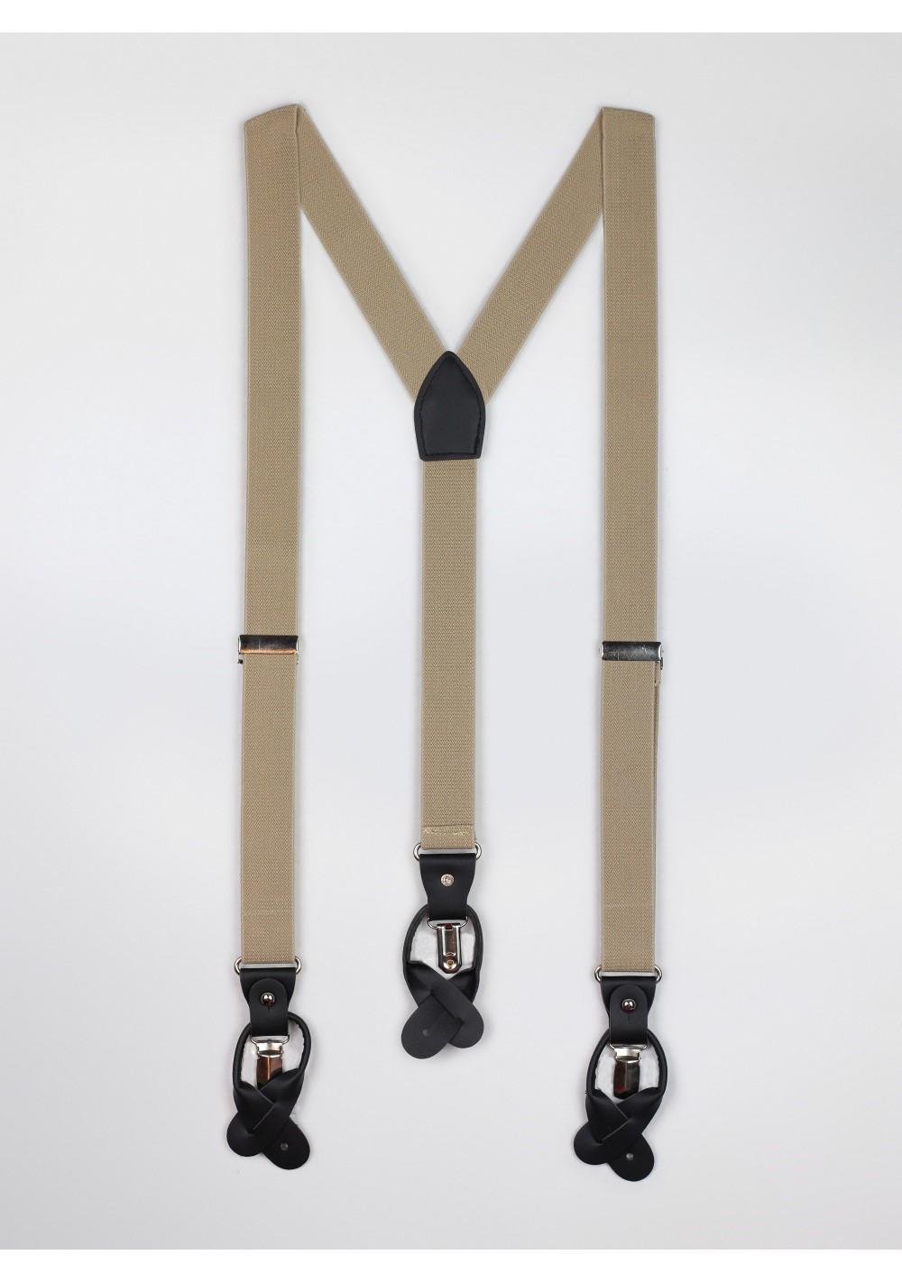 Tan Brown Mens Suspenders