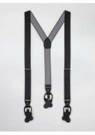 diamond dit mens suspenders in black