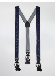 Navy mens polka dot suspenders