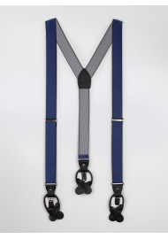 navy blue pin striped mens dress suspenders