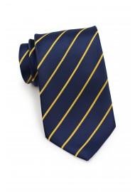 Dark Navy and Golden Yellow Tie