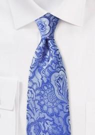 Horizon Blue Paisley Tie