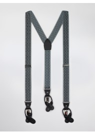 check plaid gray elastic suspenders