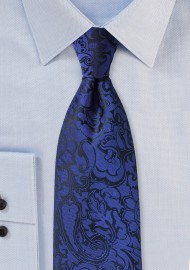 Kids Paisley Tie in Royal Blue