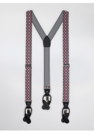 pink gray floral mens suspenders