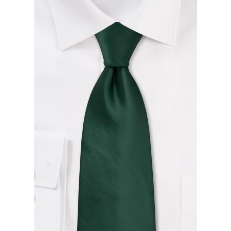 Solid Dark Green Kids Size Tie