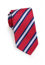 Repp Striped Kids Tie in Red and Blue