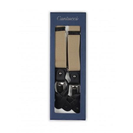 tan dress suspenders Y style