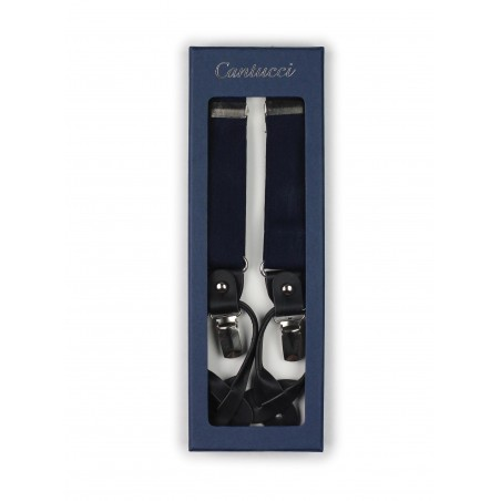 classic navy mens dress suspenders elastic strap