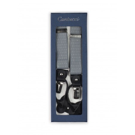 gray dress suspenders for suits and formalwear