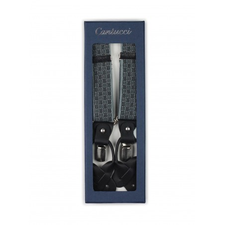 gray mens suspenders