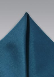 Solid Teal Blue Pocket Square