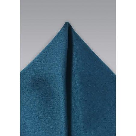 Solid Teal Blue Pocket Square