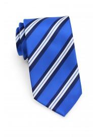 Horizon Blue Repp Striped Tie