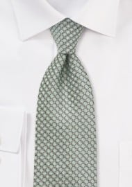 Diamond Patterned Tie in Mint Green