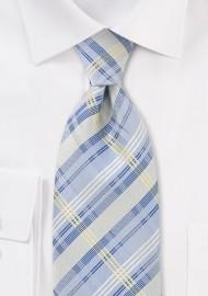 Summer Tie in Light Blue in XL Length