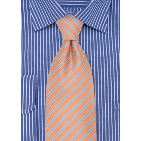 Pink-Orange Striped Kids Sized Tie