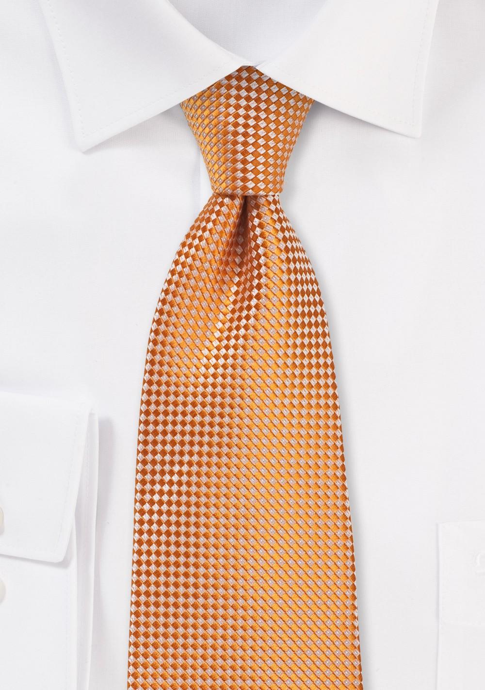 Summer Kids Neck Tie in Tangerine Orange