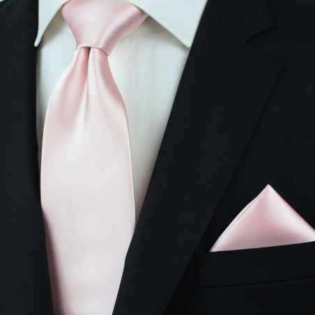 Elegant Men's Tie in Blush Styled