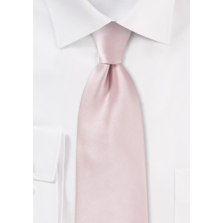 Extra Long Men's Tie in Blush