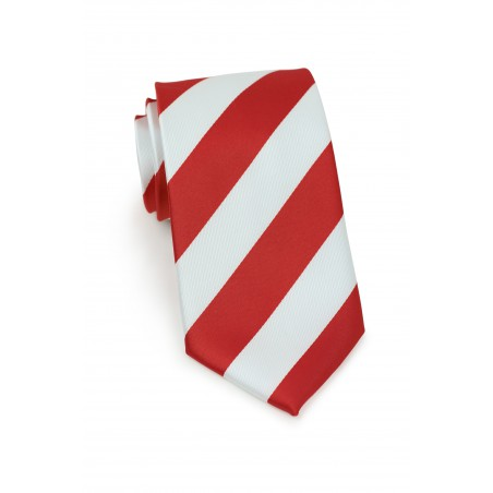 Candy Cane Striped Tie in XL Length