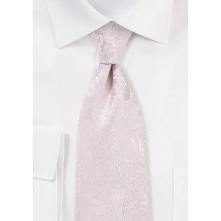 Soft Blush Pink Paisley Tie