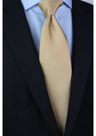 Solid Champagne Tie in XL Length Styled