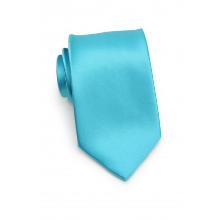 Bright Aqua Colored Necktie