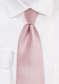 Soft Pink Color XL Length Tie