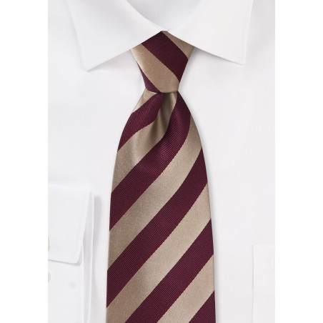 Kids Tie in Gold and Burgundy