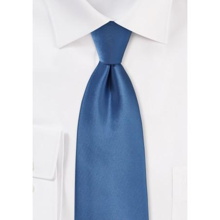 Steel Blue Color Kids Tie
