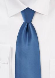 Steel Blue Tie in Long Size
