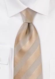 Golden Wheat Striped Tie