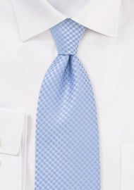 Lightly Patterned Kids Tie in Soft Blue
