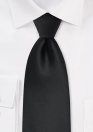 Kids Size Neck Tie in Solid Black