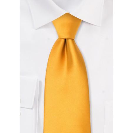 Solid Amber Yellow Kids Necktie