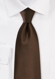 Dark Brown Kids Tie
